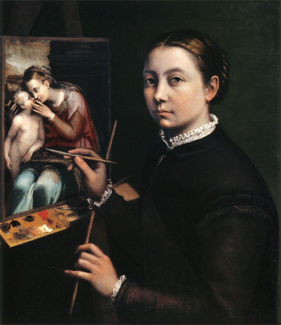 anguissolaselfportraitateasel