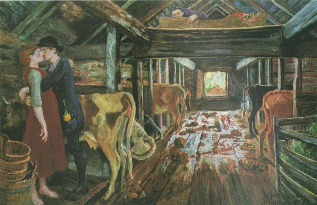 Nikolai Astrup Dark Sunlight 1 To 1905 The Eclectic