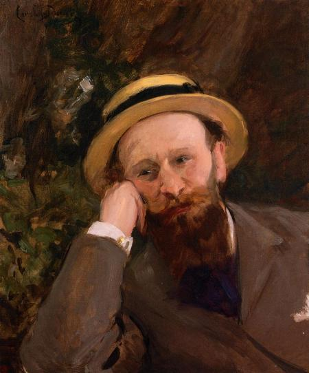 Carolus-Duran (1837–1917), Portrait of Édouard Manet (c 1880), oil on canvas, 64.7 × 54.6 cm, Private collection. Wikimedia Commons.
