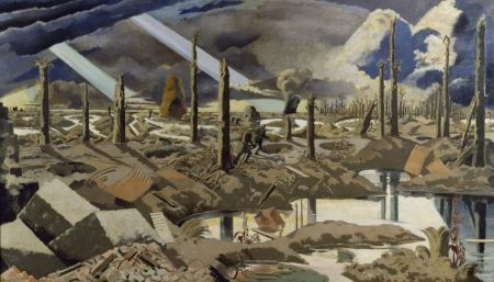 Paul Nash (1892–1946), The Menin Road (1919), oil on canvas, 182.8 x 317.5 cm, The Imperial War Museum, London. By courtesy of The Imperial War Museums © IWM (Art.IWM ART 2242).
