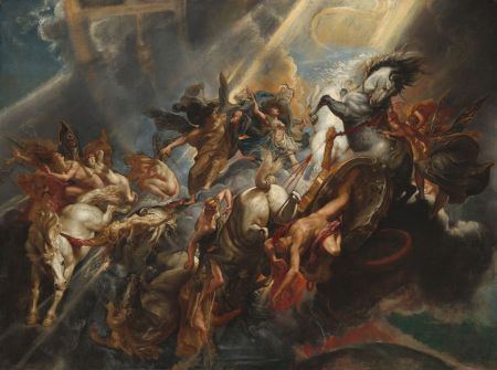 Peter Paul Rubens (1577–1640), The Fall of Phaeton (1604-8), oil on canvas, 98.4 × 131.2 cm, The National Gallery of Art, Washington, DC. Wikimedia Commons.