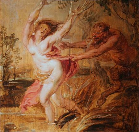 Peter Paul Rubens (1577–1640), Pan and Syrinx (c 1636), oil on panel, 27.8 × 27.8 cm, Musée Bonnat-Helleu, Bayonne, France. Wikimedia Commons.