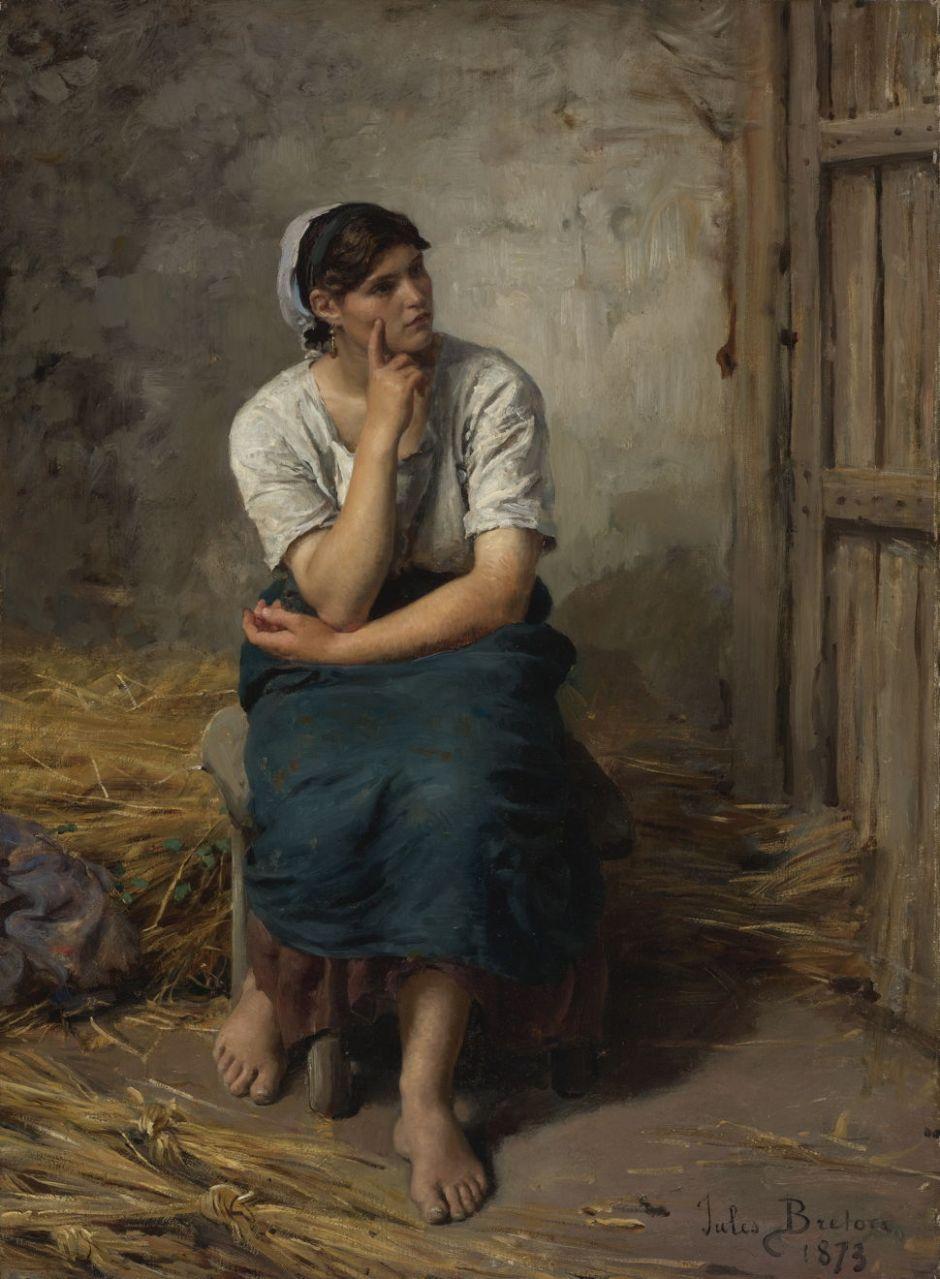 bretonpeasantwomanresting