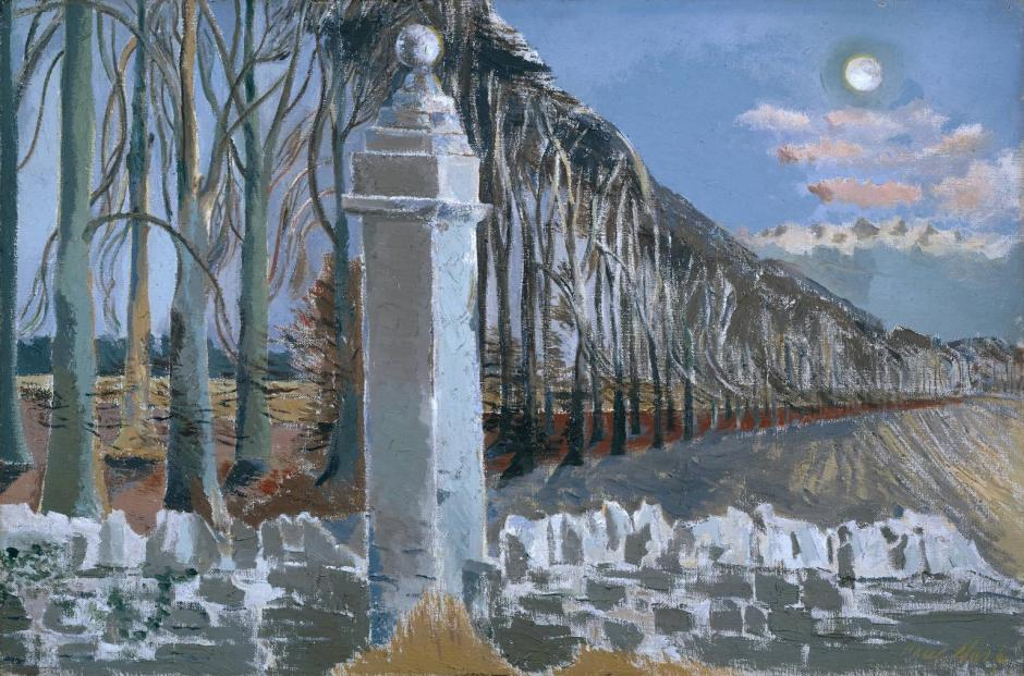 Pillar and Moon 1932-42 by Paul Nash 1889-1946