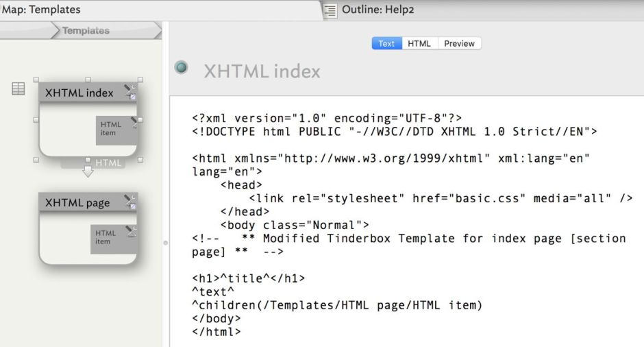 Exporting Html From Tinderbox 7 Using Css For A Help Book The