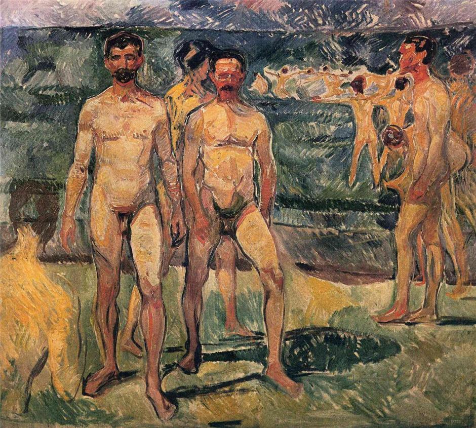 munchbathingmen1907