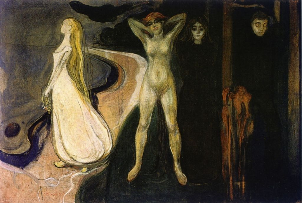 Edvard Munch The Frieze Of Life 3 Flowering And Passing Of Love