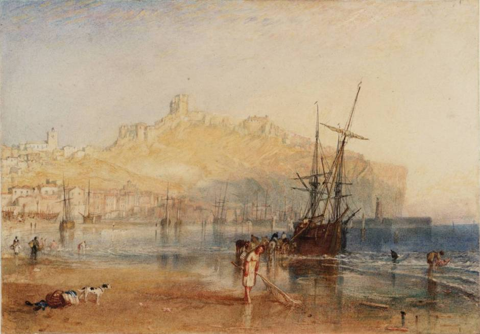 Scarborough circa 1825 by Joseph Mallord William Turner 1775-1851