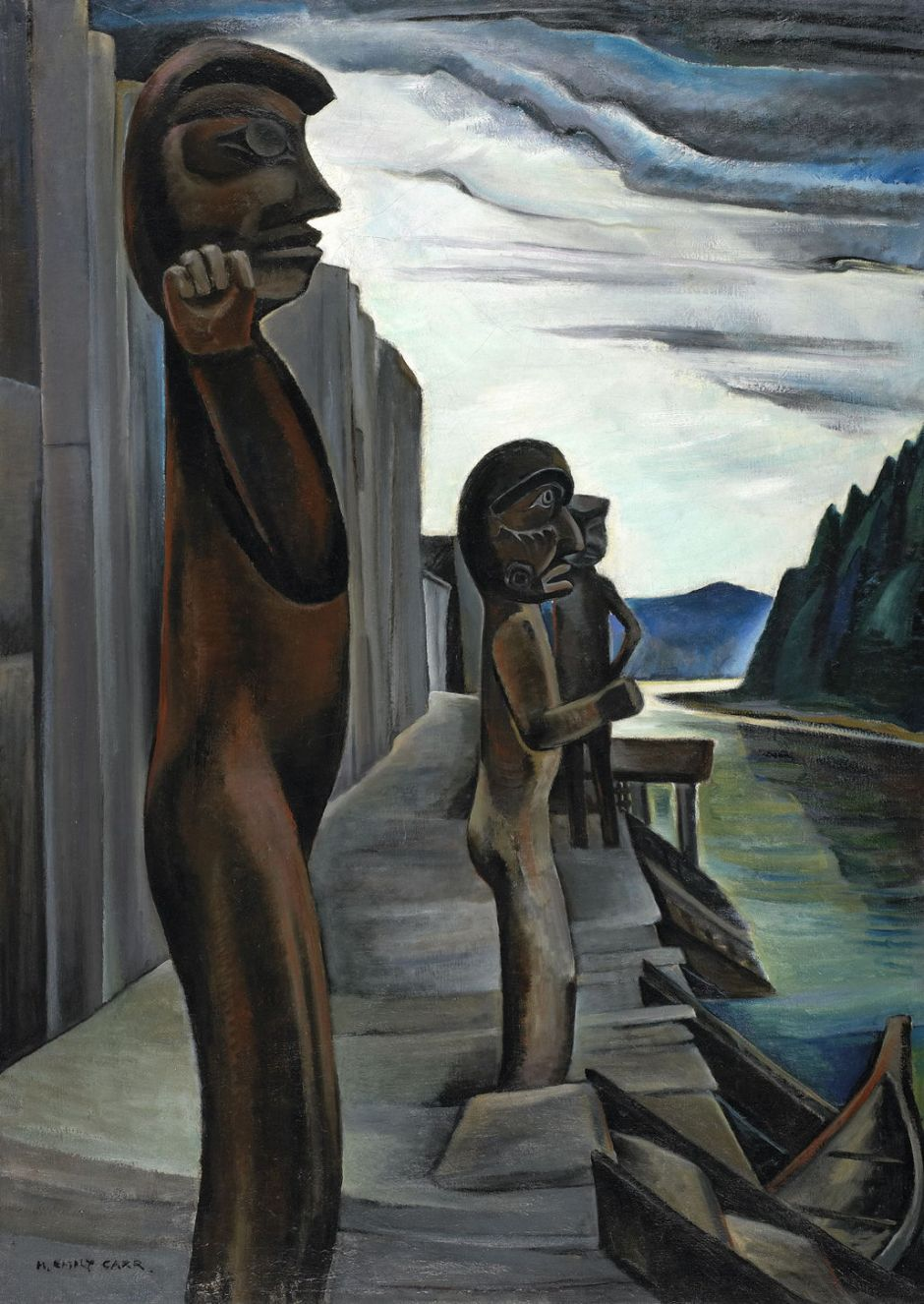 carrblundenharbourtotems1930