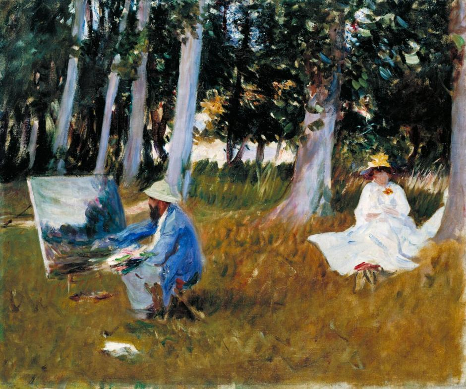Claude Monet Painting by the Edge of a Wood ?1885 by John Singer Sargent 1856-1925