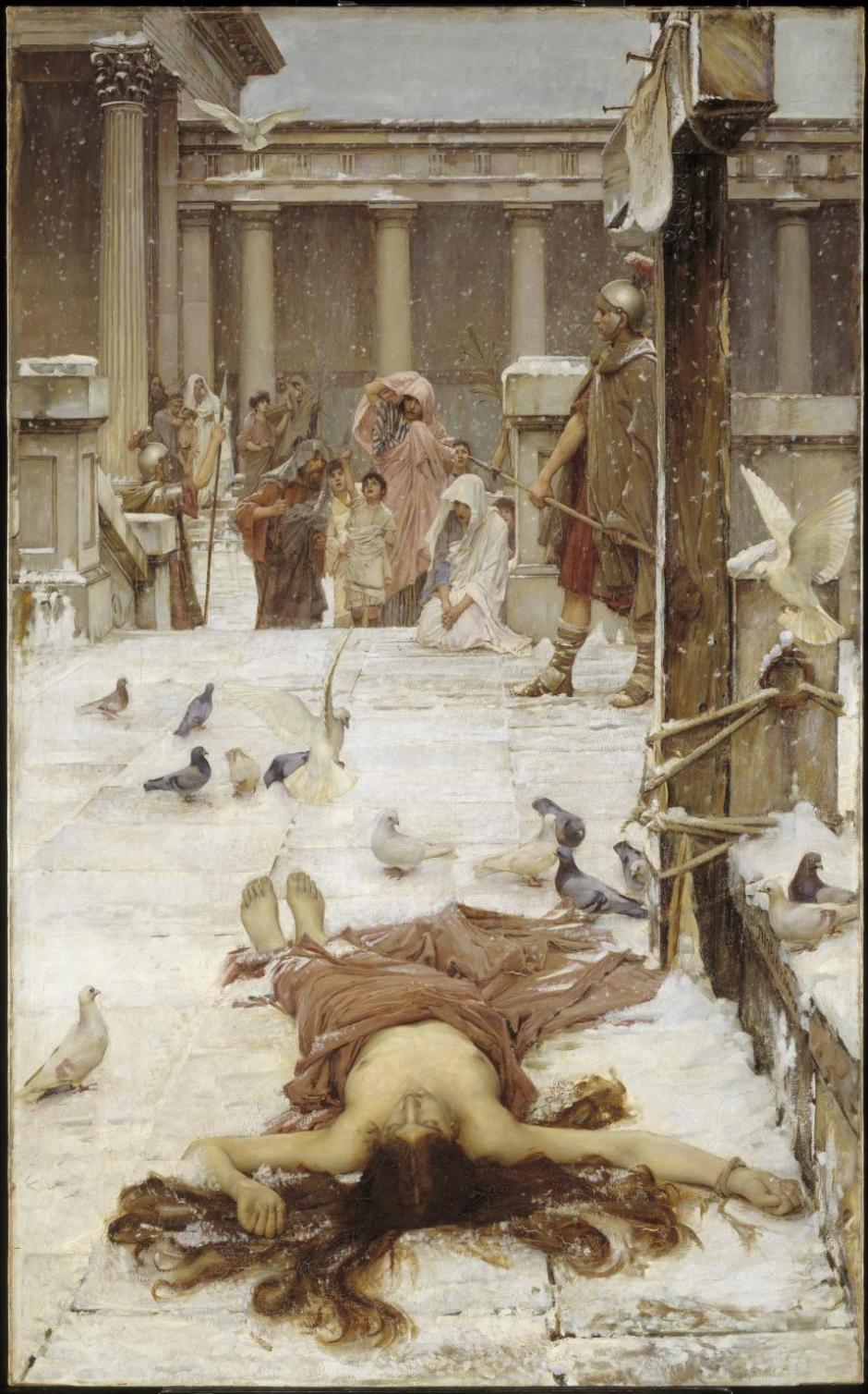 Saint Eulalia exhibited 1885 by John William Waterhouse 1849-1917