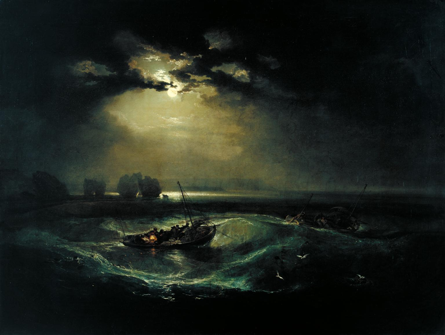 Fishermen at Sea exhibited 1796 by Joseph Mallord William Turner 1775-1851