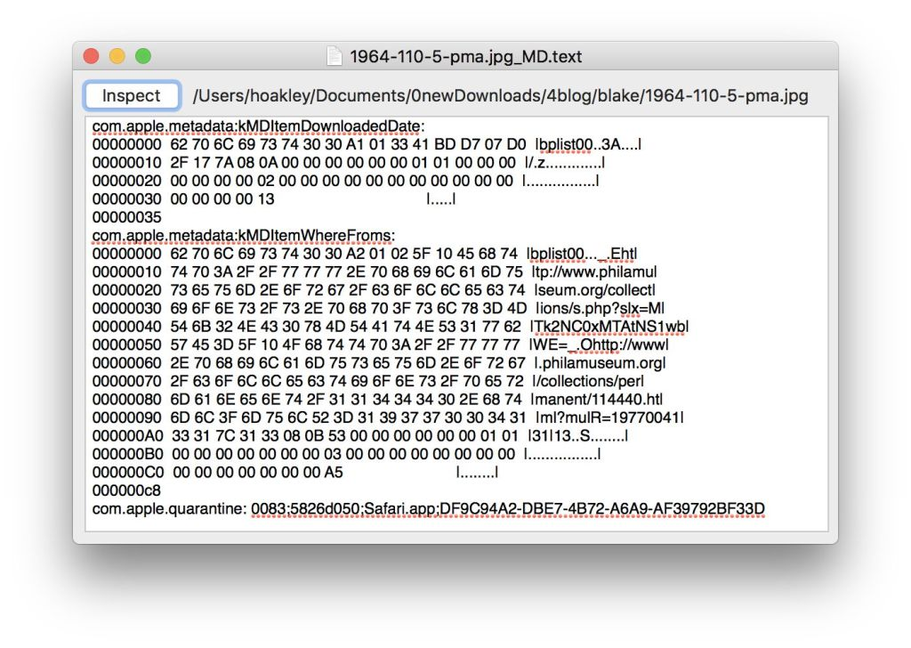 Show me your metadata: extended attributes in macOS Sierra – The