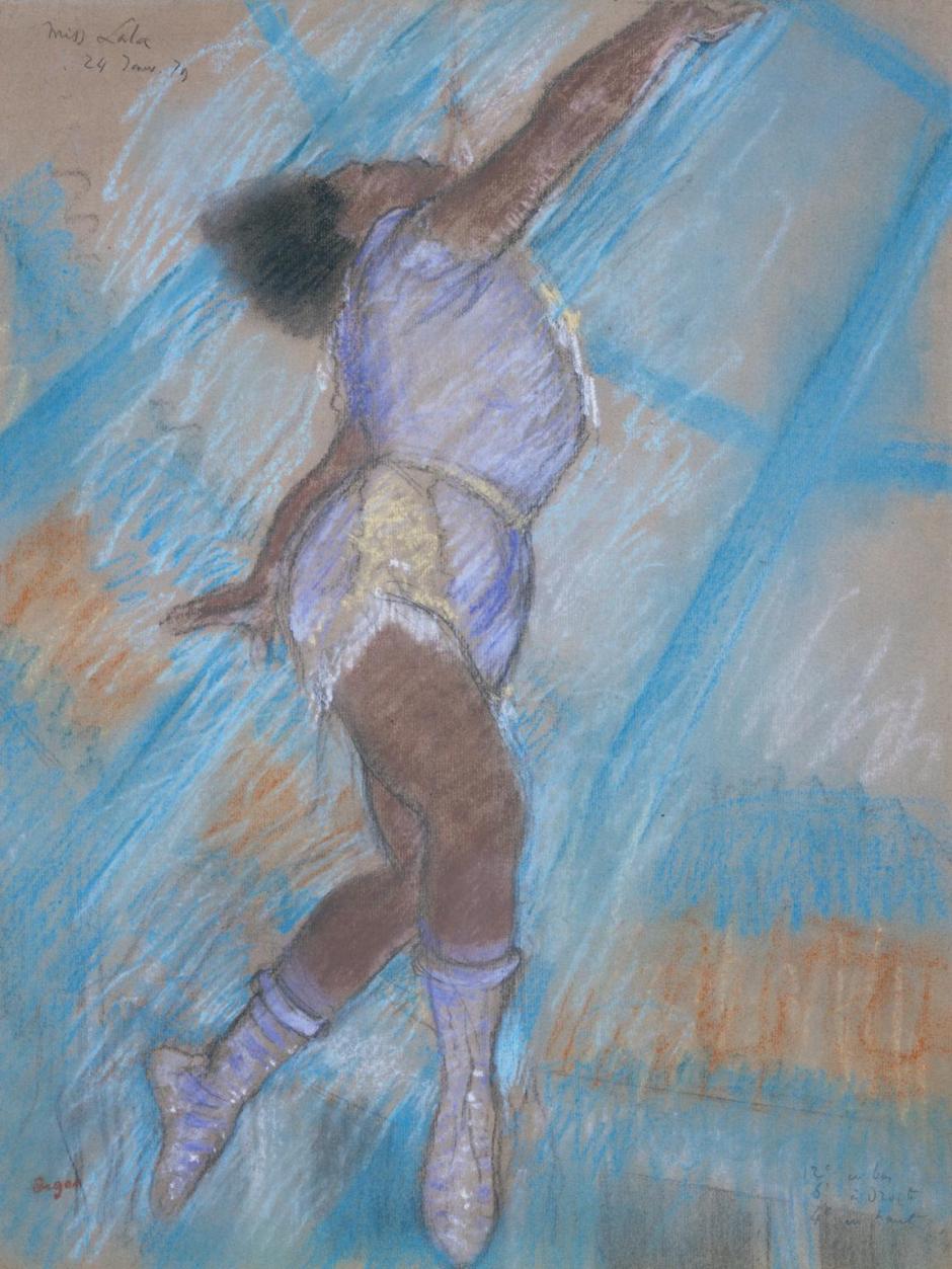 Miss Lala at the Cirque Fernando 1879 by Edgar Degas 1834-1917