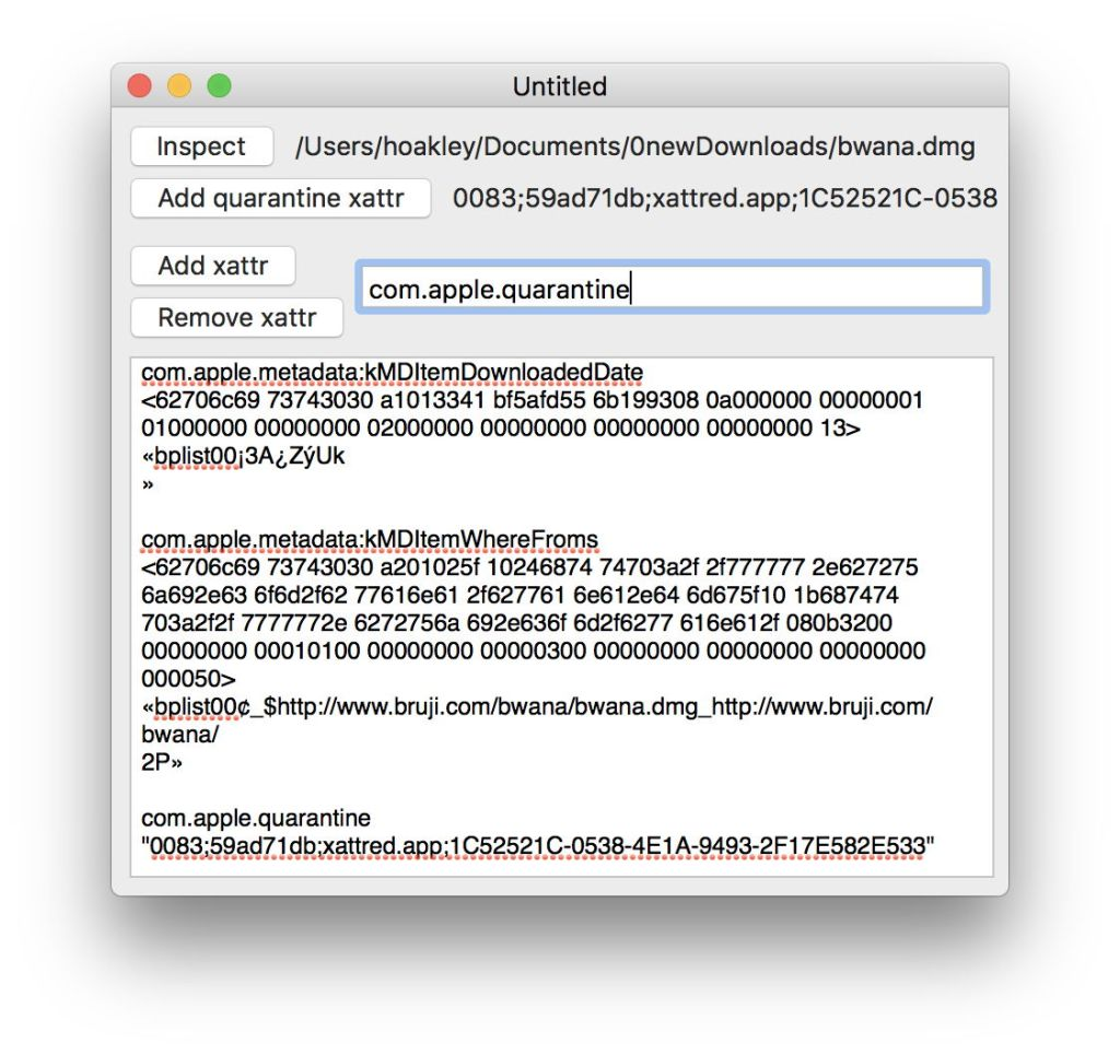 Beyond Scripting in Swift: Direct access to xattrs, calling