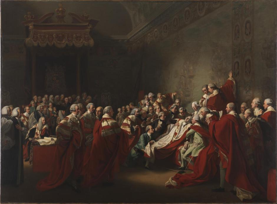 The Collapse of the Earl of Chatham in the House of Lords, 7 July 1778 1779-80 by John Singleton Copley 1738-1815