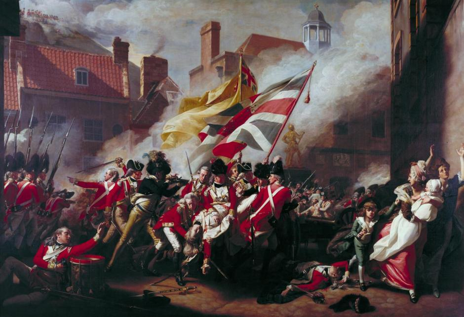 The Death of Major Peirson, 6 January 1781 1783 by John Singleton Copley 1738-1815