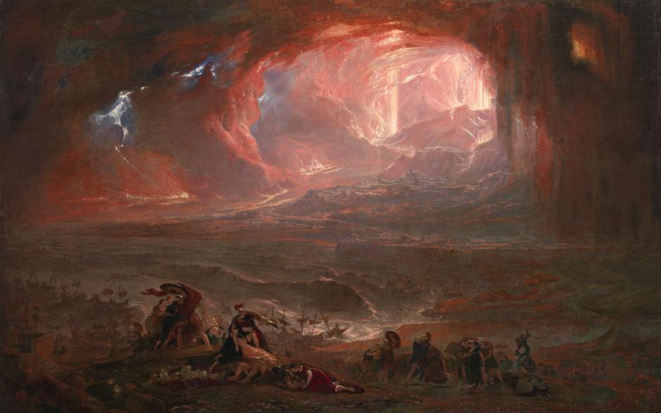 The Destruction of Pompei and Herculaneum 1822, restored 2011 by John Martin 1789-1854
