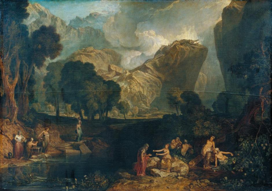 The Goddess of Discord Choosing the Apple of Contention in the Garden of the Hesperides exhibited 1806 by Joseph Mallord William Turner 1775-1851