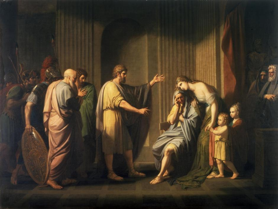 Cleombrotus Ordered into Banishment by Leonidas II, King of Sparta 1768 by Benjamin West 1738-1820