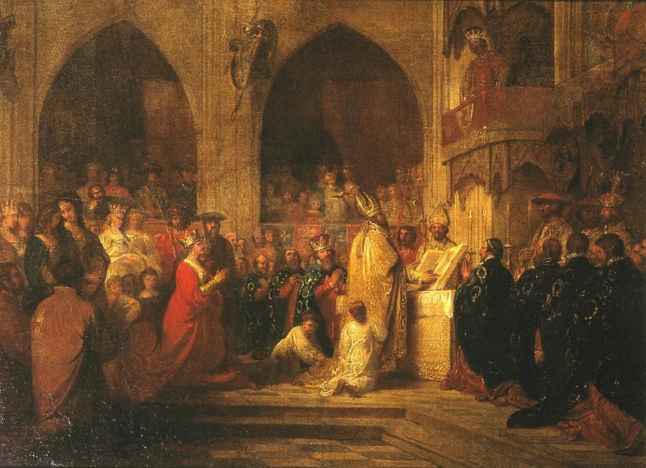 Sketch for 'The Installation of the Order of the Garter' c.1787 by Benjamin West 1738-1820