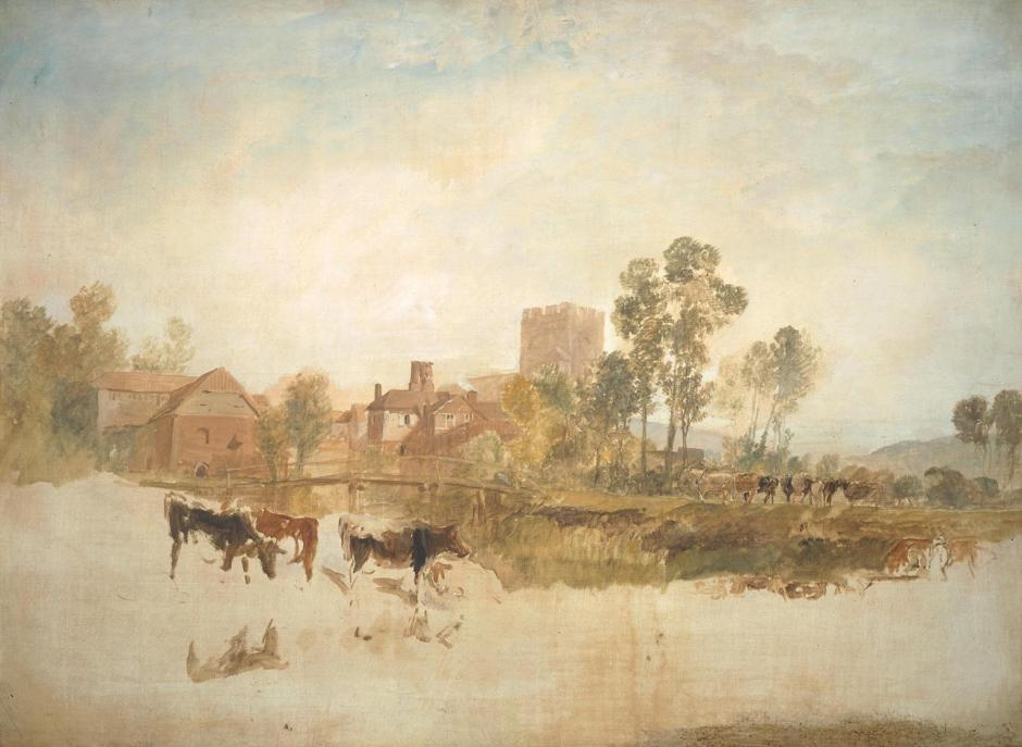 Goring Mill and Church c.1806-7 by Joseph Mallord William Turner 1775-1851