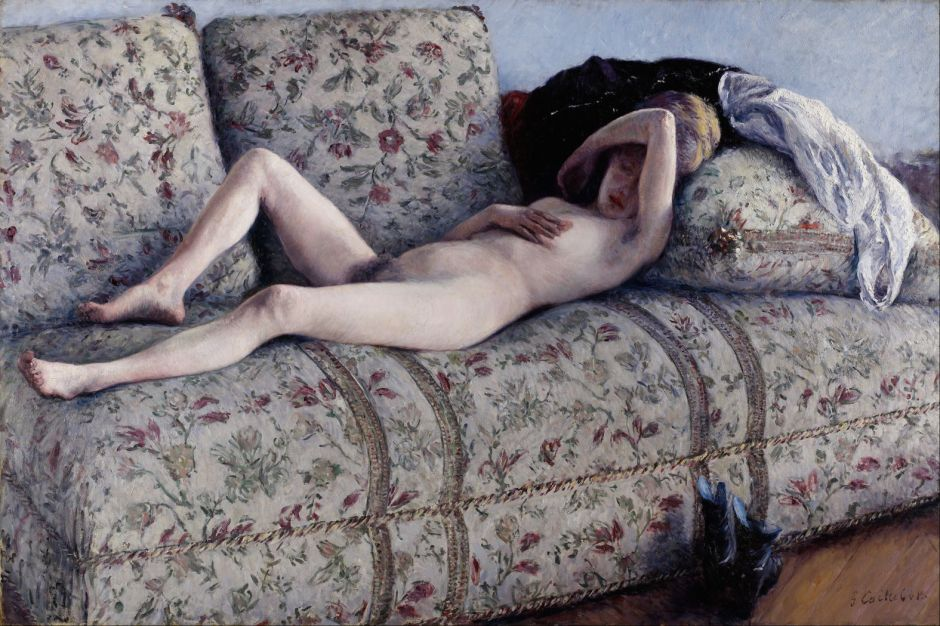 caillebottenudeoncouch1880