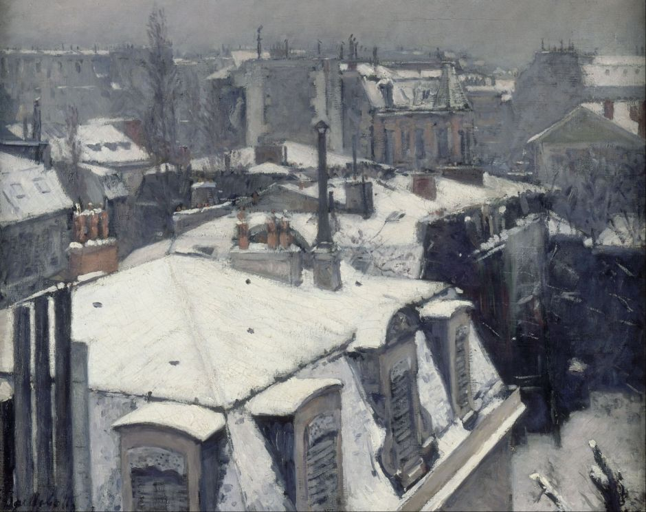 caillebotterooftopssnow