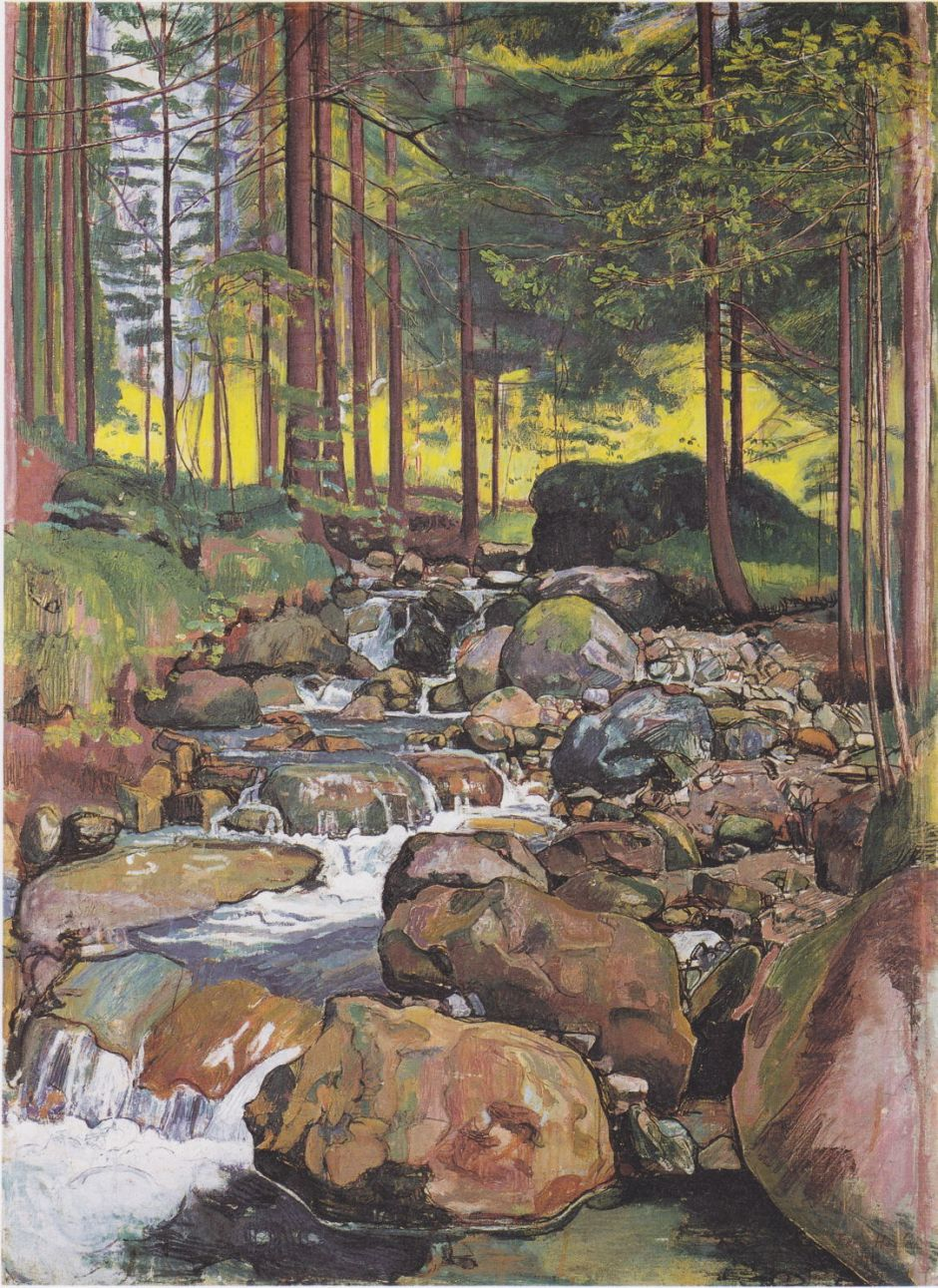 hodlerforestmountainstream1902