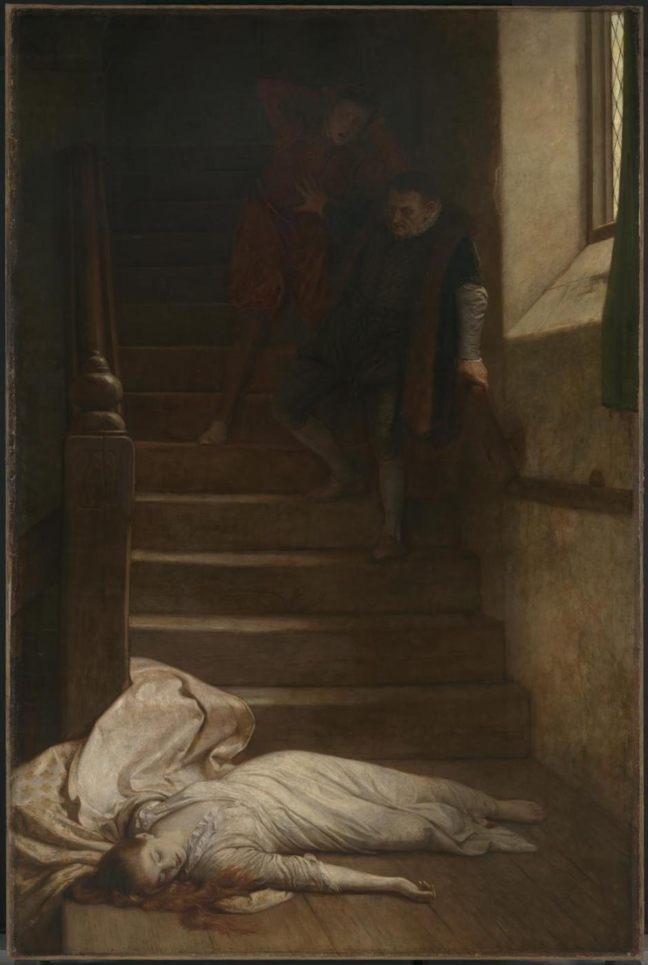 Amy Robsart exhibited 1877 by William Frederick Yeames 1835-1918