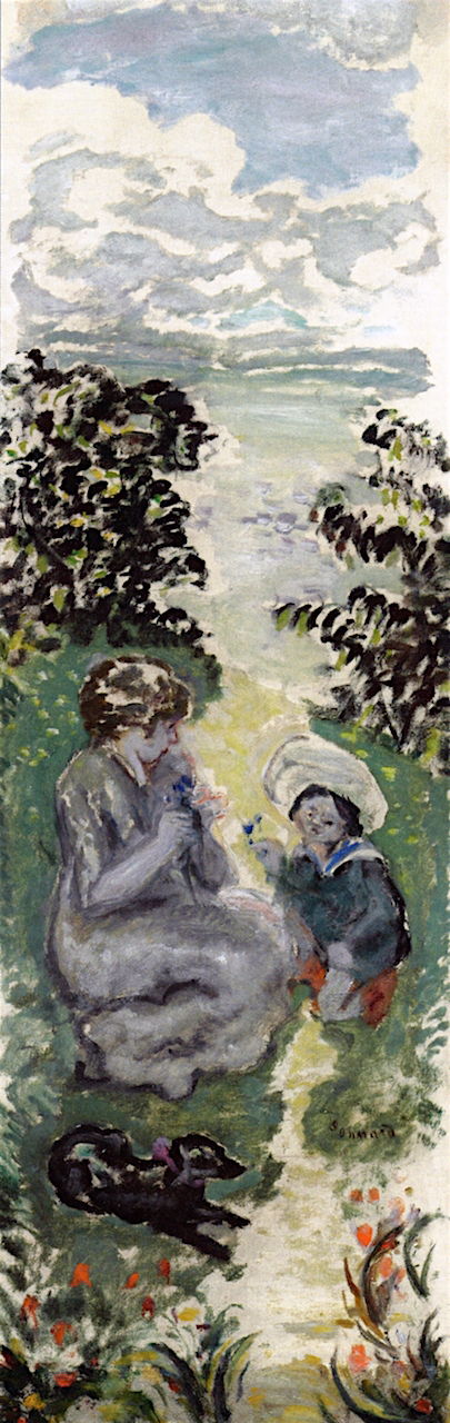 Pierre Bonnard (1867-1947), In the Country: Mother and Child (1907), oil on canvas, 100 x 33 cm, Private collection. The Athenaeum.