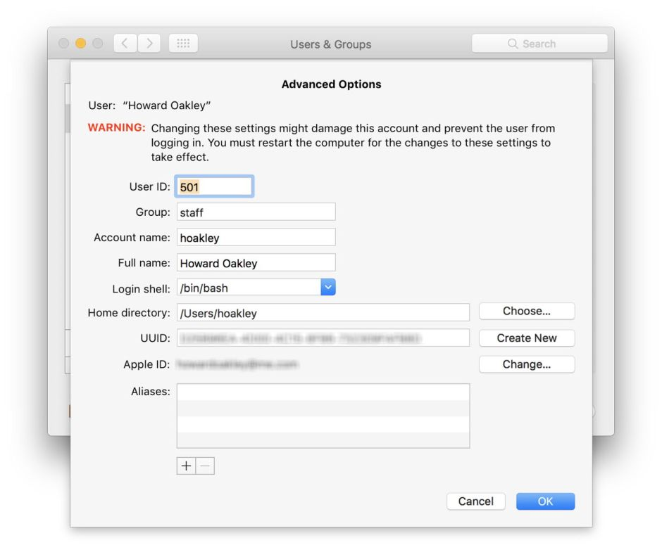 User account Advanced Options: shortcut to hell – The
