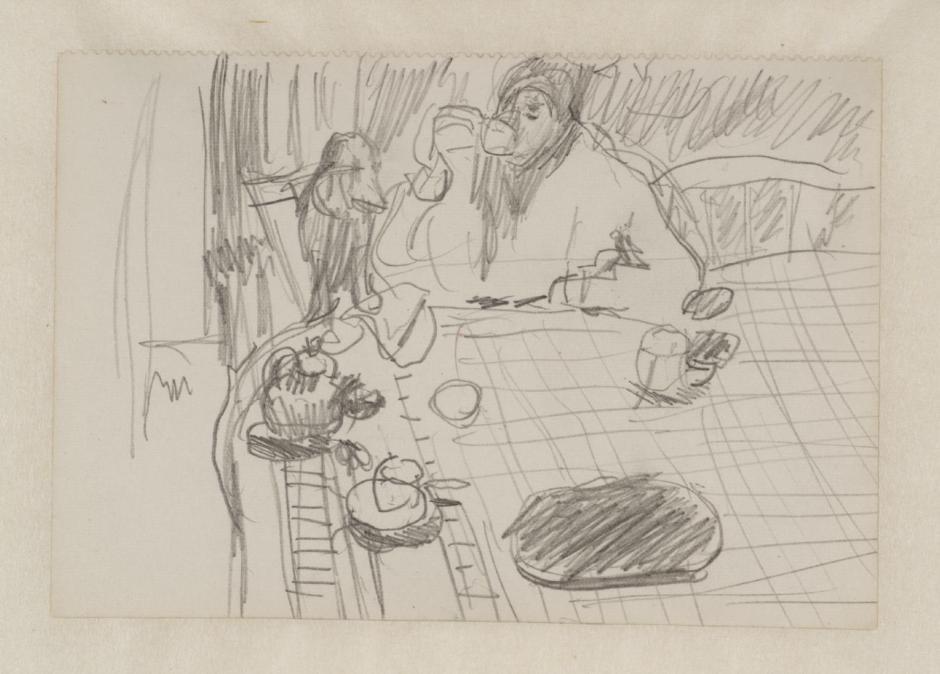 Preparatory Sketch for 'Coffee' 1915 by Pierre Bonnard 1867-1947