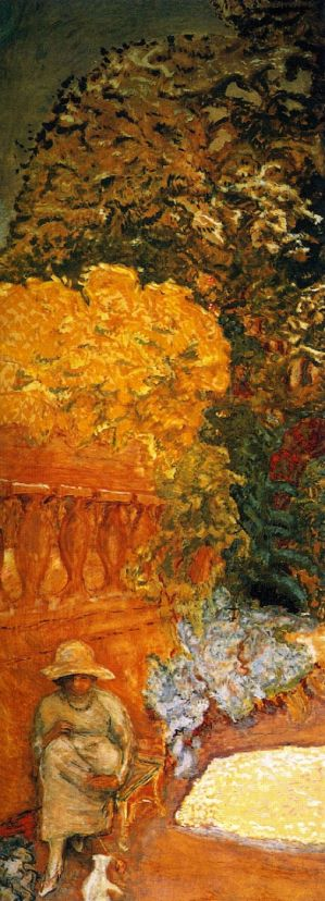 Pierre Bonnard (1867-1947), Mediterranean (left panel of triptych) (1911), oil on canvas, 407 x 152 cm, The State Hermitage Museum, St Petersburg, Russia. The Athenaeum.