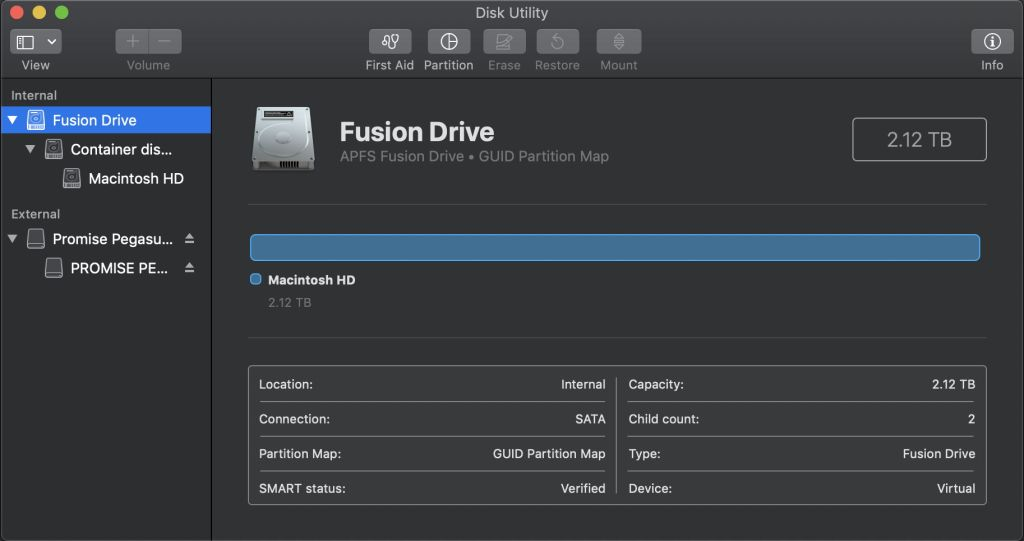 Fusion Drives in APFS – The Eclectic Light Company