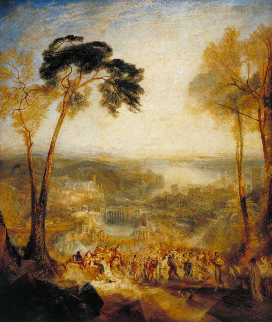 Phryne Going to the Public Baths as Venus: Demosthenes Taunted by Aeschines exhibited 1838 by Joseph Mallord William Turner 1775-1851