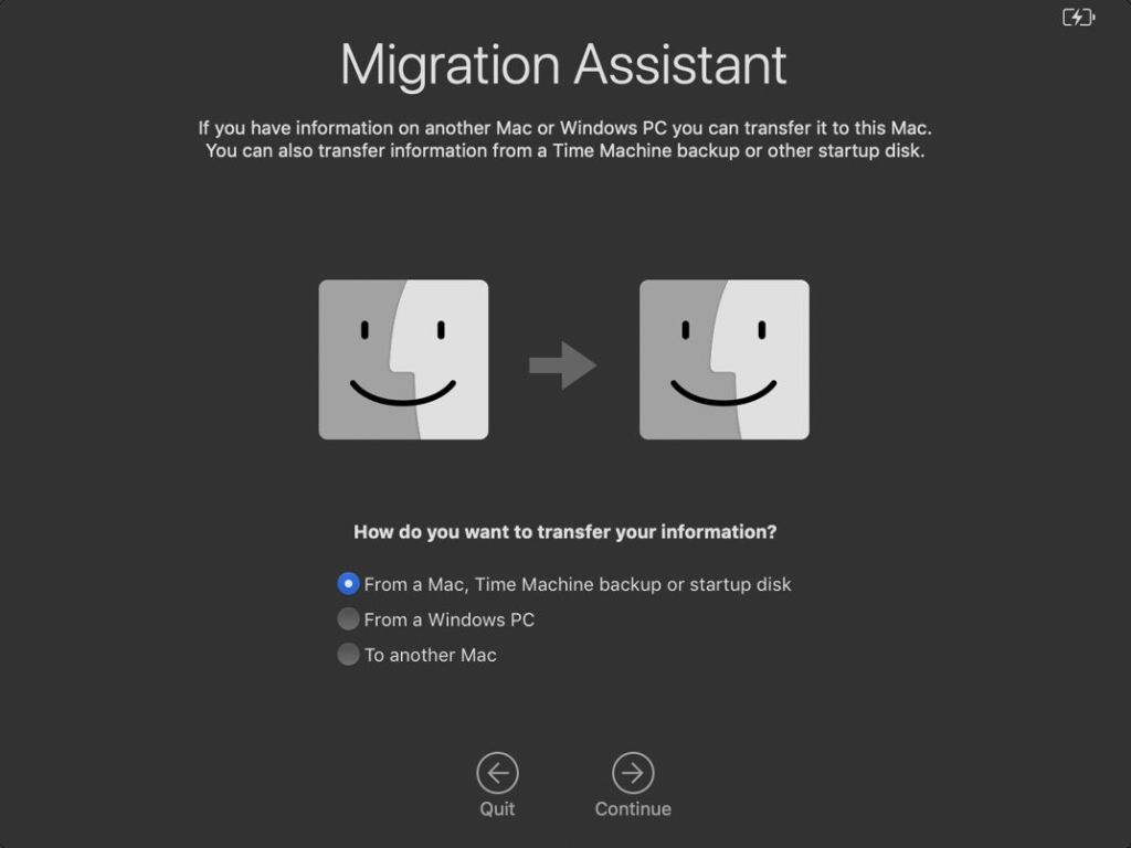 Setting up a new (or repurposed) Mac: 2 Migration Assistant
