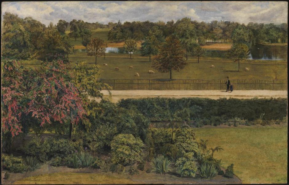 May, in the Regent's Park 1851 by Charles Allston Collins 1828-1873
