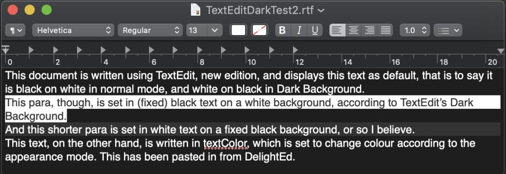 Last Week on my Mac: Crippling Rich Text with Dark Mode – The