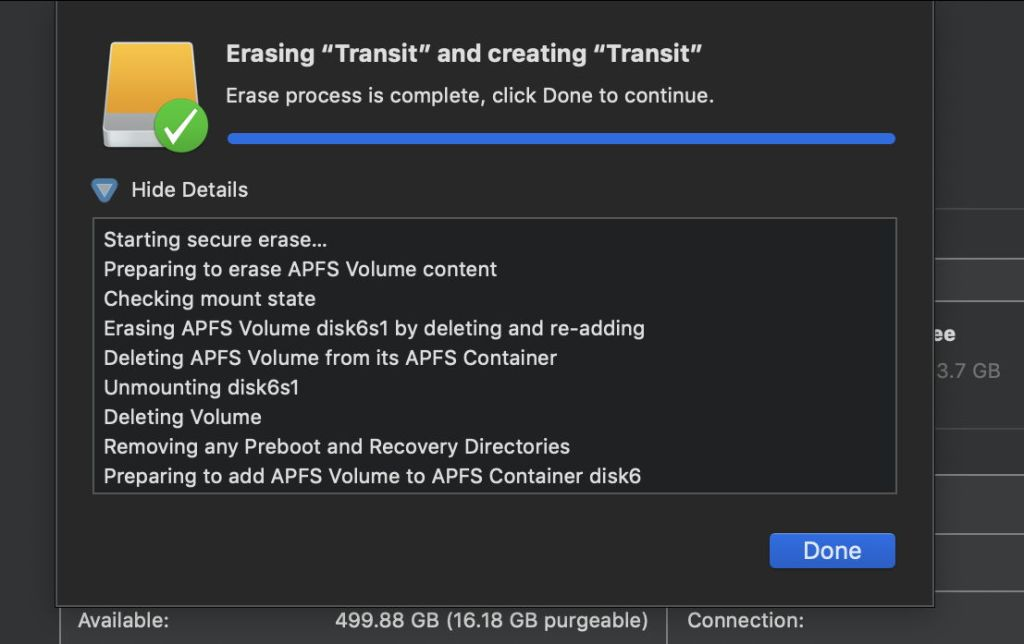 Disk Utility 18 0 (Mojave): Not exactly the truth – The Eclectic