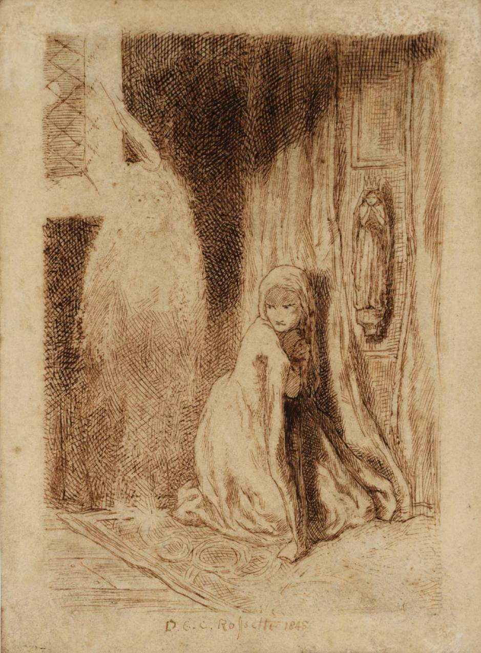 Faust: Margaret in the Church 1848 by Dante Gabriel Rossetti 1828-1882