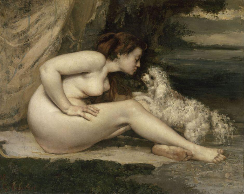 courbetwomandog