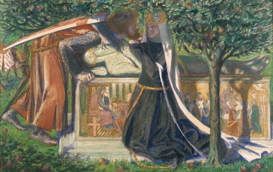 Arthur's Tomb 1860 by Dante Gabriel Rossetti 1828-1882