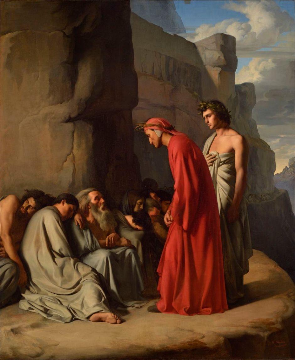 Le Dante, conduit par Virgile, offre des consolations aux âmes des envieux - Inv. A 21