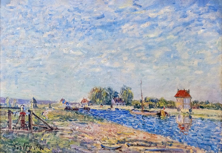 Bemberg Fondation Toulouse - Le canal du Loing - Alfred Sisley 1884 Inv.2086 38x55