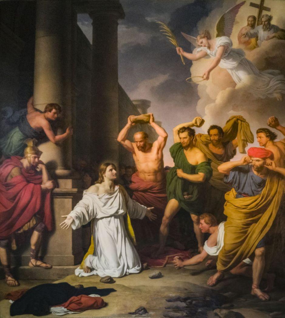 Cathédrale Saint-Étienne de Toulouse - La lapidation de saint Etienne par Charles Thévenin en 1829 PalissyPM31001488.jpg