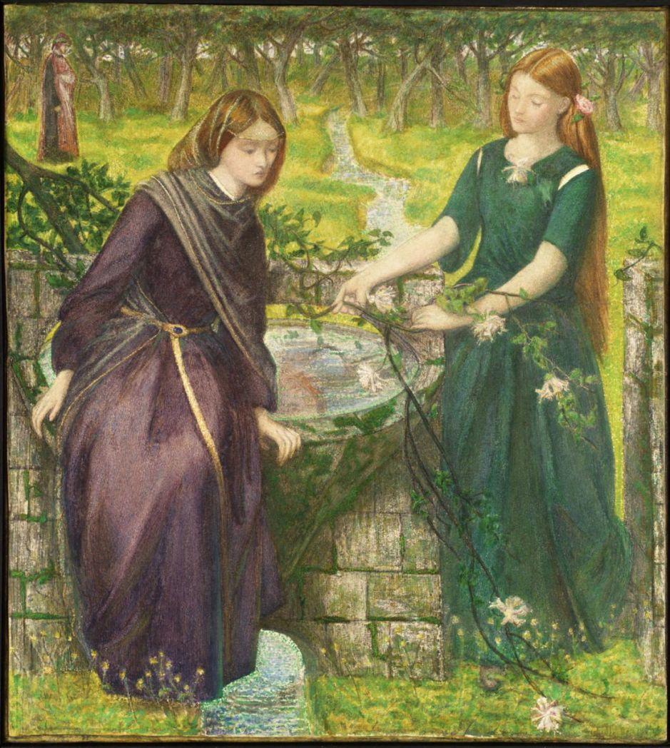 Dante's Vision of Rachel and Leah 1855 by Dante Gabriel Rossetti 1828-1882