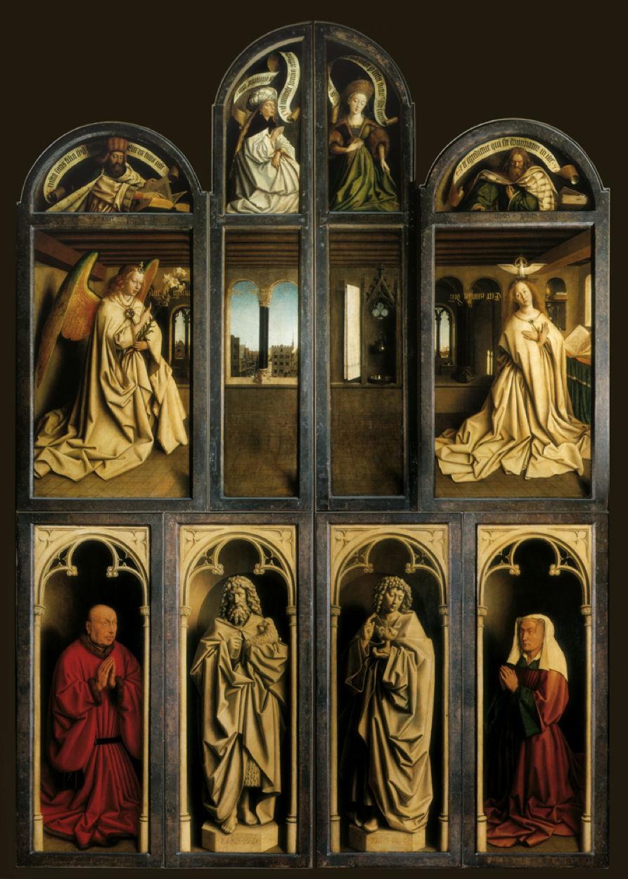 Lam Godsretabel, Mystic Lamb, Agneau Mystique, Der Genter Altar (Lammanbetung), Políptico de Gante (El Políptico de la Adoración del Cordero Místico)