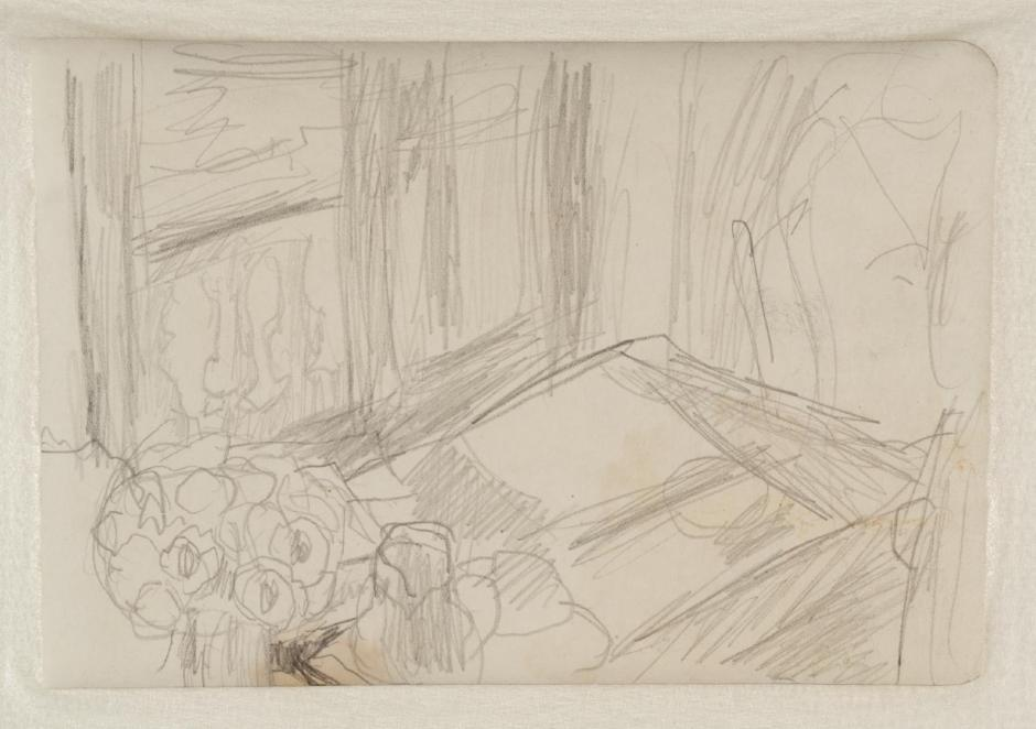 Preparatory Sketch for 'The Bowl of Milk' c.1919 by Pierre Bonnard 1867-1947