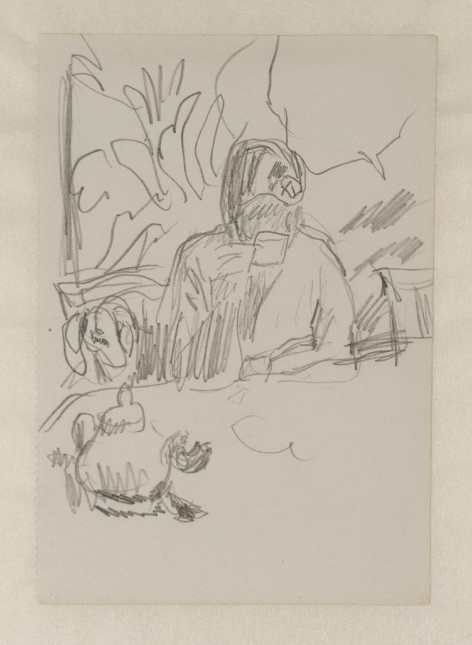 Preparatory Sketch for 'Coffee' 1915 by Pierre Bonnard 1867-1947